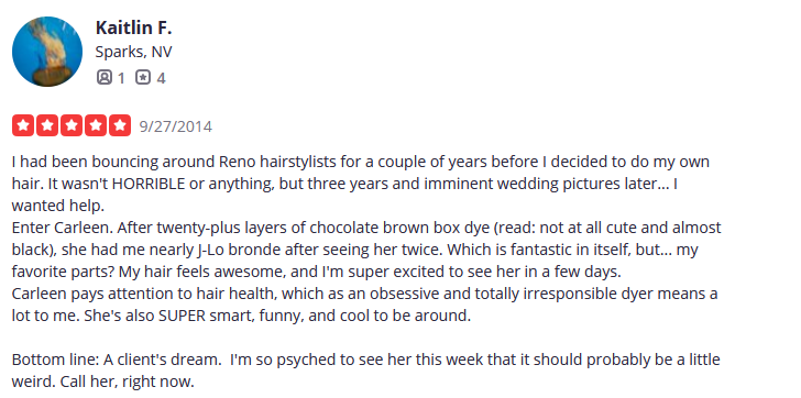 Curly Hair Reno Nevada | air Cut & Color Design by Carleen Sanchez