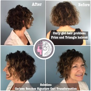 before and after of hairstyle